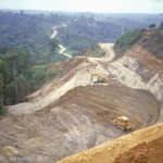 Tabubil-Kiunga road in Ok Tedi area, PNG; 1982 (E Medley)